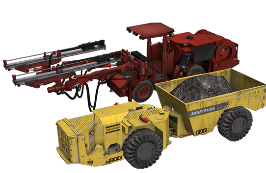Underground Machines - Interchangeable equipment modules