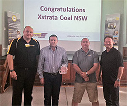 Xstrata Coal accepting the 2012 Global Industry Sustainability Award