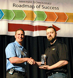 Brandon Hom, Kinross Fort Knox - accepting the 2010 Business Improvement Award
