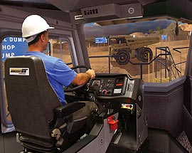 Simulator for Caterpillar Truck