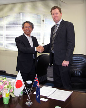 Mr Hidetaka Kita, Komatsu Ltd and Mr Peter