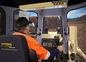 Caterpillar D11R Track Dozer replicated on the PRO3 training simulator