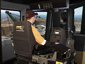 Simulator for the Caterpillar D11T Track Dozer