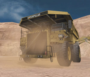 Simulating the Caterpillar® 797F Mining truck