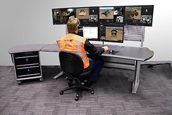 Trainer Productivity Station: centralized workstation that can 