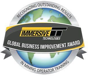 Immersive Technologies' Global Business Improvement Award Recognizes Outstanding Results in Mining Operator Training