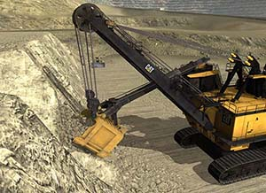 Cat 7495 Rope Shovel Simulator