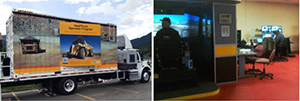 In addition to their training center programs, College of the Rockies also runs a mobile training simulator course and travels anywhere in Western Canada to deliver the program.