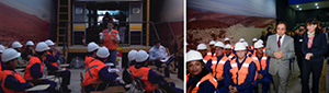 Students at Edutecno in Santiago, Chile are able to train to become haul truck operators on simulators in a unique training environment. Chile faces a mining worker shortage and state dignitaries were on hand at a recent graduation ceremony of haul truck operators to applaud them for their efforts and support of the mining industry.