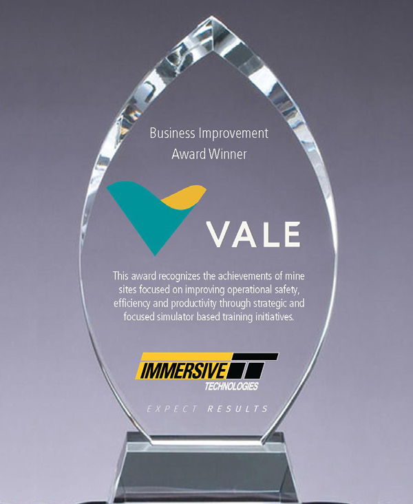 VALE Ferrosos make big efficiency improvements to win the Immersive Technologies Annual Business Improvement Award