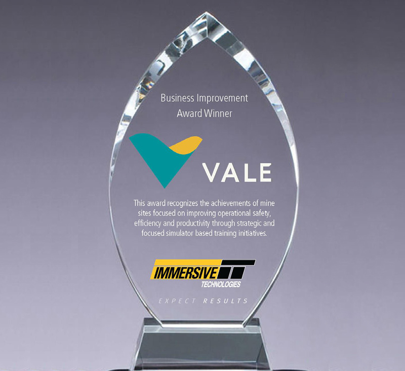 VALE Business Improvement Award trophy