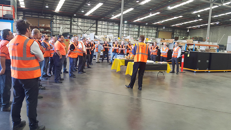Perth Production Facility celebration photo