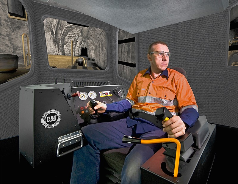 Simulator for Cat® R1700G, R2900G Underground Loaders