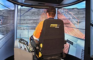 Simulator for Hitachi Hydraulic Shovel/Excavator EX2500-5