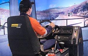 Simulator for Komatsu Haul Truck 960E-1