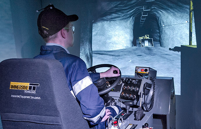 Simulator for Epiroc (Atlas Copco) Underground Truck MT 6020