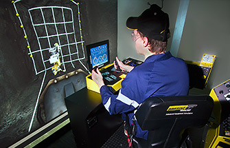 Simulator for Atlas Copco L1C Jumbo Drill