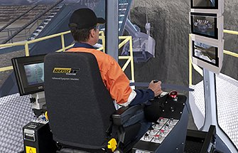 Simulator for Bucyrus 495BII Rope Shovel