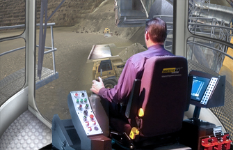 Simulator for Bucyrus 595B Rope Shovel
