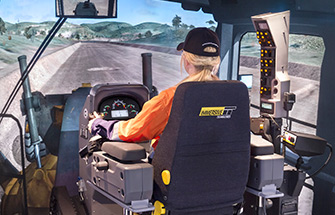 Simulator for Cat® 16M, 24M Graders