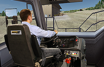 Simulator for Cat® 776D Belly Dump Haul Truck