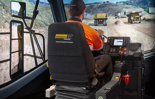 Simulator for Cat® 777E Truck