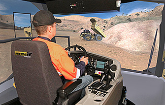 Simulator for Caterpillar Haul Truck 777F