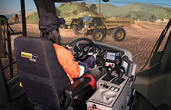 Simulator for Caterpillar Haul Truck 777G