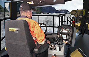 Simulator for Caterpillar 795F Haul Trucks