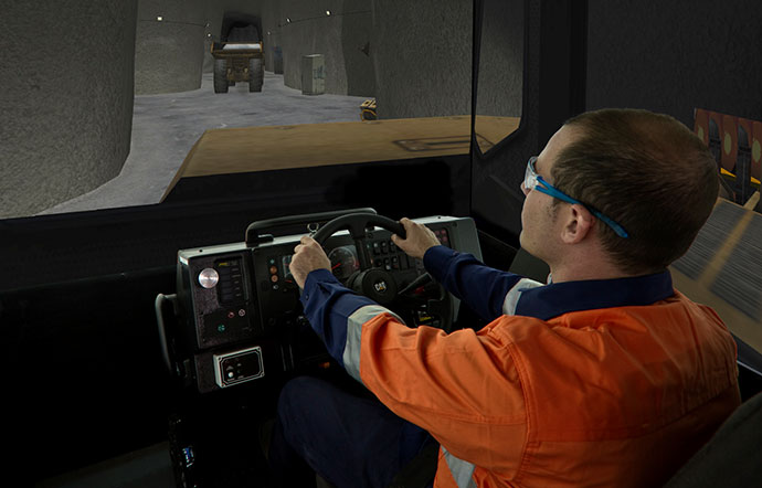 Simulator for Cat® AD45B, AD55B, AD60 Underground Trucks