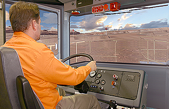 Simulator for Cat® (Bucyrus) MT4400 DC, MT4400 AC Haul Trucks
