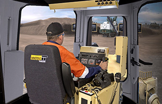 Simulator for Cat® D11R Track Dozer