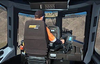 Simulator for Cat® D11T Track Dozer