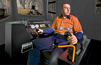Simulator for Caterpillar Underground Loader R1700G, R2900G