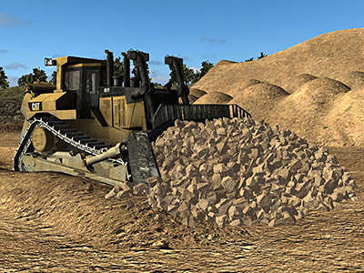 Cat D11T Dozing Training