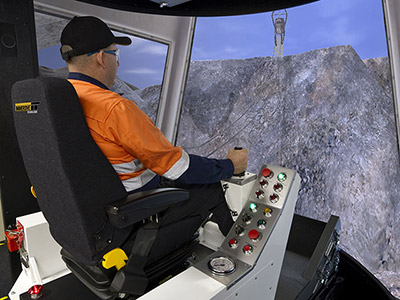 Dragline Training Simulator Module on PRO3