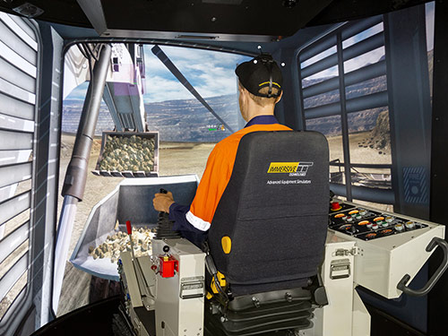 Liebherr R996 Shovel/Excavator, R9250 Excavator Training Simulator Module on PRO3