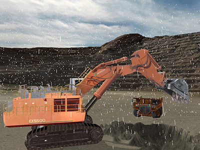 Hitachi EX5500-5 Adverse Weather Training