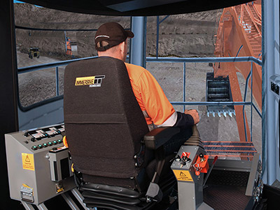 Hitachi EX5500-5 Hydraulic Shovel/Excavator Training Simulator Module on PRO3