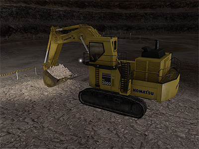 Komatsu PC2000-8 Night Operation Training
