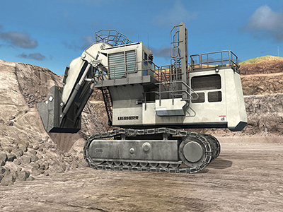 Liebherr R9400 Digging Training