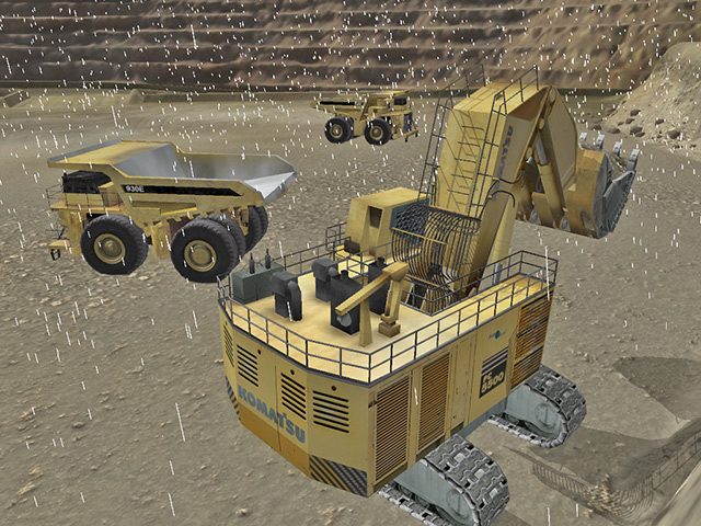 Komatsu PC5500-6 Adverse Weather Training