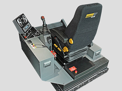 Komatsu PC5500-6 Shovel/Excavator, PC8000-6 Shovel Training Simulator Module (Overhead view)
