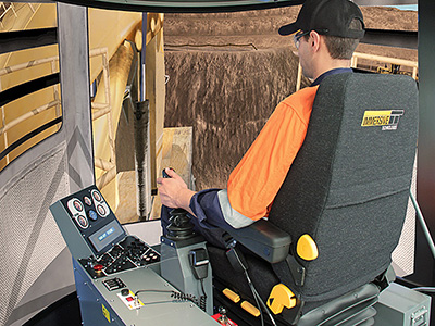 Komatsu PC5500-6 Shovel/Excavator, PC8000-6 Shovel Training Simulator Module on PRO3