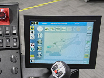 P&H 4100XPC Training Simulator - Operational Touch Screen