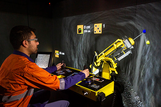 Simulator for Epiroc ME7 C Longhole Production Drill Rig