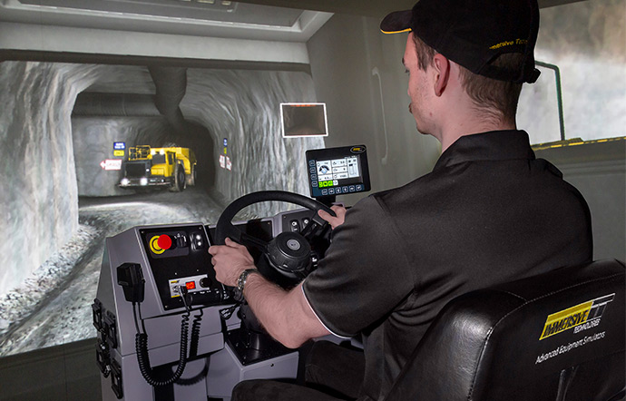 Simulator for Epico (Atlas Copco) MT65 Underground Truck