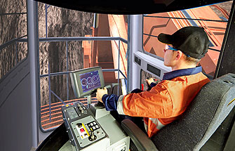 Simulator for Hitachi Shovel/Excavator EX2500-6