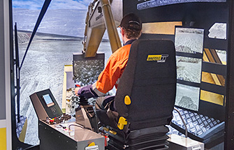 Simulator for Komatsu PC4000-6 Shovel/Excavator