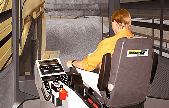 Simulator for Komatsu Shovel PC8000-5